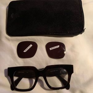 Auth Celine CL 41097 S Sunglasses Frame Tortoise